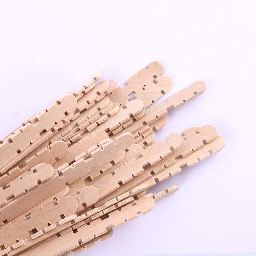 IPOTCH Natur Birkenholzst/äbchen Holzst/äbchen Craft Sticks zum Basteln Gekauft