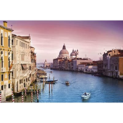 Jigsaw Puzzle for Adults 1000 Pieces, Landscape Fine Art Cardboard Wood Puzzles, Landscape Series, The Grand Canal, 27.6 x 19.6 Inch Challenging for Grown ups Kids Children: Toys & Games
