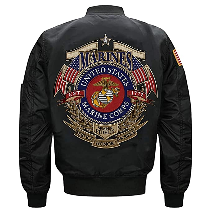 Amazon.com: U.S. Marine Corps EST 1775 Semper Fidelis MA-1 ...