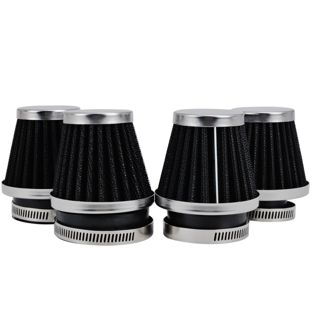 Uesful 50mm Tapered Chrome Pod Air Filters Clean Mushroom Head Cleaner G