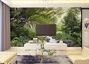 Murales De Pared 3D 3D Personalizar Sala De Estar Fondo De Tv De Piedra De Bosque Papeles De Pared 3D Decoración De Hogar Mural De Pared-400 * 280Cm: Amazon.es: Bricolaje y herramientas