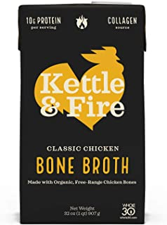 product image for Kettle & Fire, Classic Chicken Bone Broth, 32 Ounce