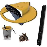 Auto Mouse Rolling Trap Rat Trap Flip N Slide Bucket Lid Mouse Live Catch and Release Bucket Spin Roller Humane Rolling…