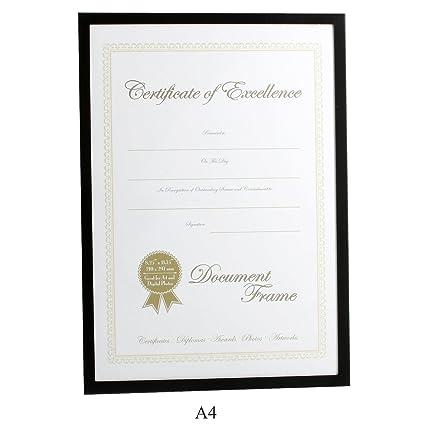 Black Surround A4 Certificate Photo Frame
