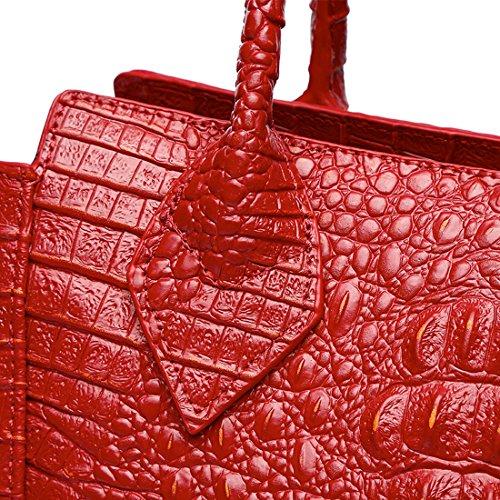 KAXIDY pour Main Portés Main Mariée Sac Cuir Portés Sac Bandoulière Femmes Rouge élégant Sac de Sacs à à Main Sacs rq14rnB