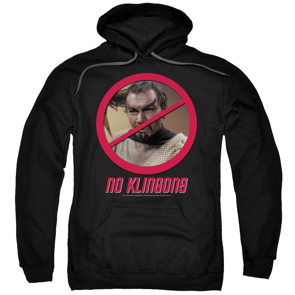 2Bhip Next generation tv-serie kor keine klingons hoodie für Herren