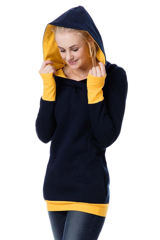 GoFuture Damen Umstandshoodie Stillpullover 3in1 ENNA GF2057