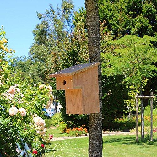 Nichoir oiseaux à balcon pour mésanges charbonnières Ø32mm en bois, Fabrication artisanale Nichoirs-mangeoires.fr