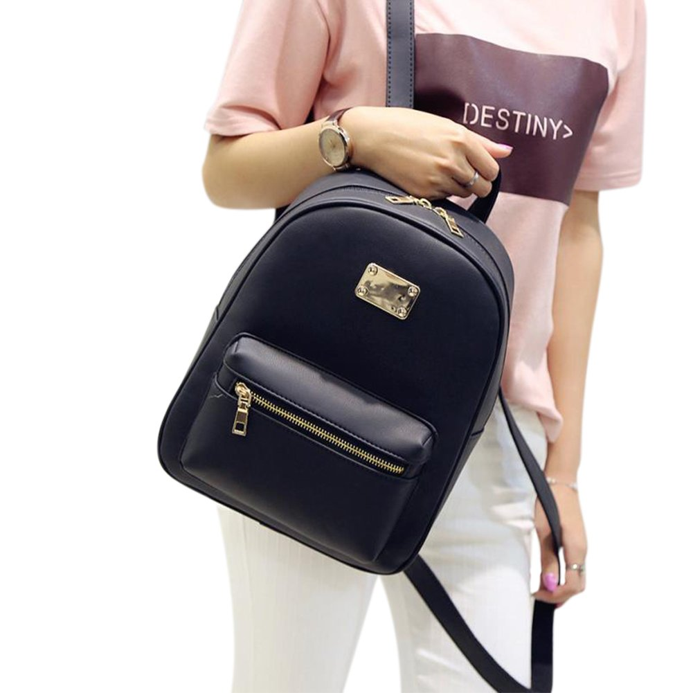ThinkMax Cute Macaron Colors Zipper Closure Backpack Girls Concise School Bag Shoulder Travel Bag