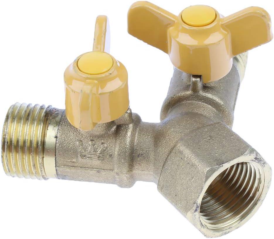 Shiwaki Raccord de tuyau de gaz naturel en forme de Y en laiton 20 mm