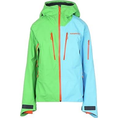 Norrona W Lofoten Gore-TEX PRO Jacket - Jungle Fever   Ice Blue - L - Womens  waterproof breathable Gore-Tex® Pro ski and snowboard jacket  Amazon.co.uk   ... a1e41714d