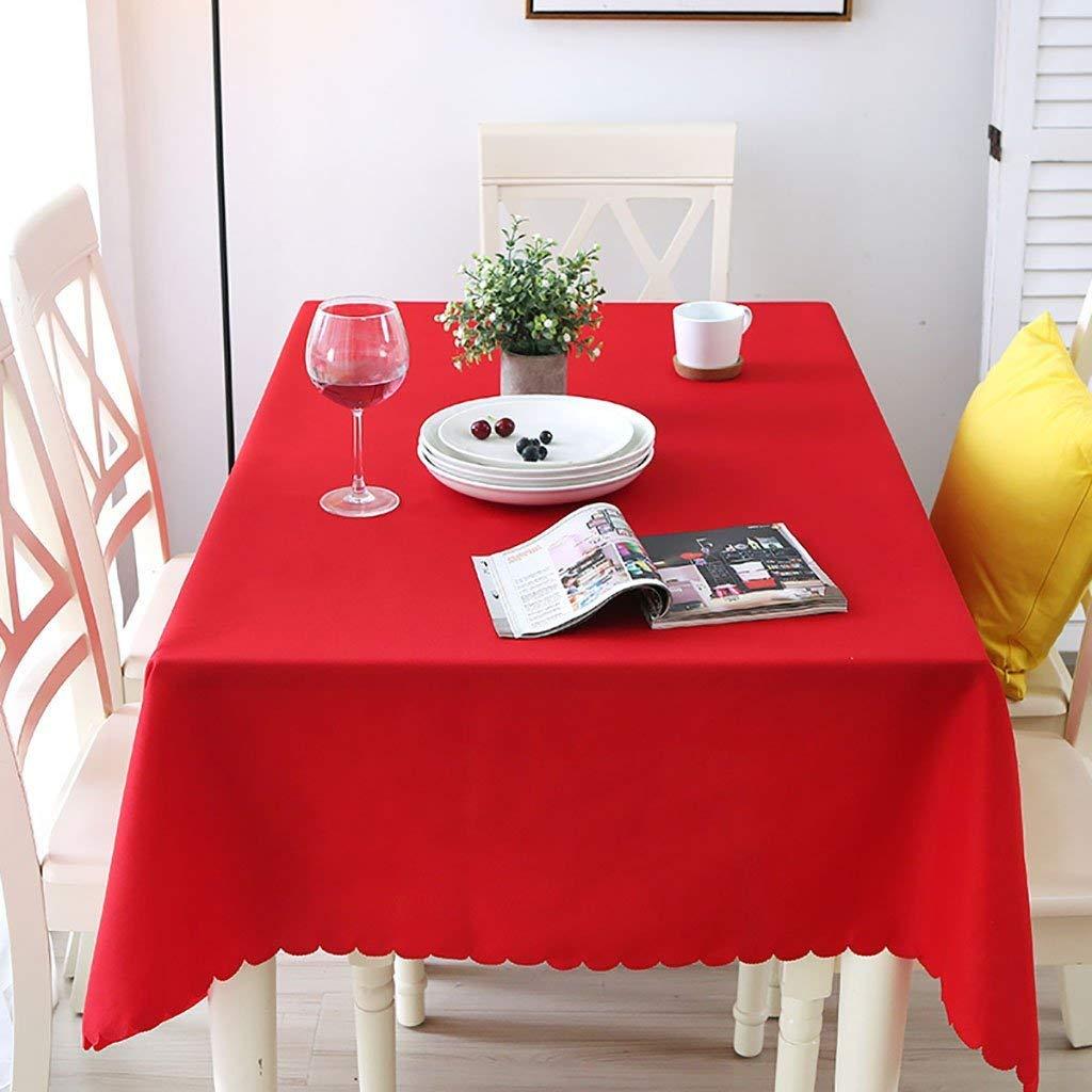 JJD テーブルクロス、ポリエステルファイバー製のテーブルクロス、ピュアカラーの長方形のテーブルクロス、ユニークなパーティー用テーブルクロス、ティーテーブルクロス、家庭用、オフィス、会議用、ホテル用テーブルクロス、シンプルでモダン (サイズ : 180*260cm) 180*260cm  B07RJPRCGQ
