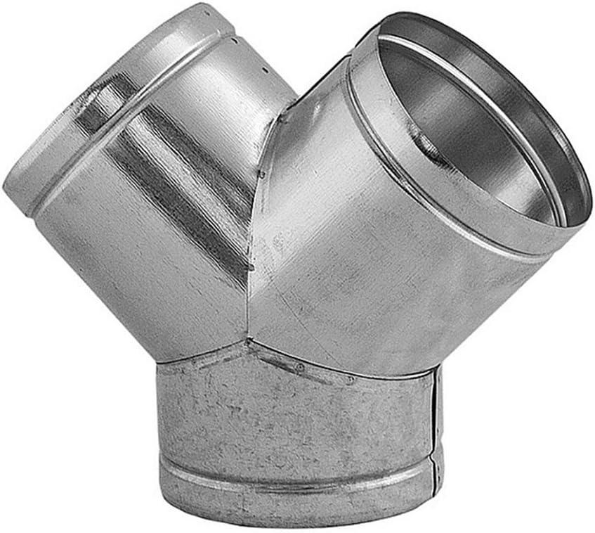 /Ø 120 mm L/üftungsrohr Y-St/ück 90/° aus galvanisierten Stahl zur Ableitung des Rohrsystems f/ür runde L/üftungsrohre