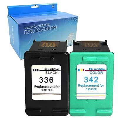 Teng® - Cartucho de Tinta Reciclado para HP 336 342 C9362EE ...