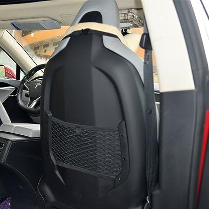 Topfit Seat Back Organizers Multi Pocket Storage Net For Tesla Model S