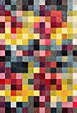 328 Checkered Multi Colored 2 x 7 Area Rug Carpet Review