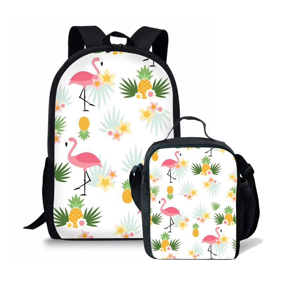 0a03d80c744 Amzbeauty Pineapple School Bag Lunch Box Set 2 PCS Cute Personalized 17  inch Backpack AMZ-FUD-CG-HBC18222CG