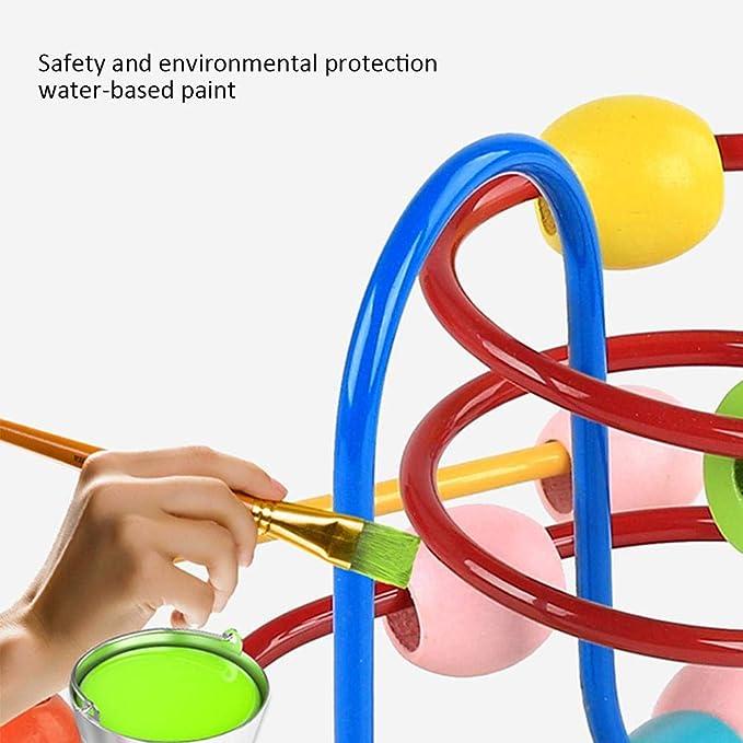H Juguetes educativos de la montaña rusa del laberinto de las gotas de madera para los niños pequeños, Bebé alrededor de los juguetes de madera de mejora de ...