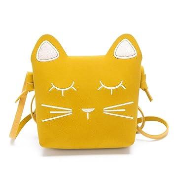1336fc1a3 Fossrn Infantil Niña Bolsos de Bandolera Dibujos Animados gato Pequeña  Bolsade Hombro de Estilo Princesa (Amarillo): Amazon.es: Equipaje