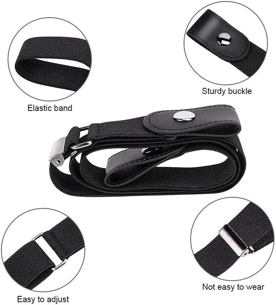 Senza Fibbia Cintura Invisibile per Pantaloni Jeans shajiahao Cinture da Donna Elastica Senza Fibbia Senza Fibbia Cinture Cintura Donna,Cintura Elastica Senza Fibbia per Uomo e Donna