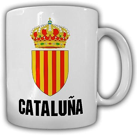 Cataluña España escudo de diseño de la bandera de Cataluña región Cataluña vacaciones – taza de café: Amazon.es: Hogar