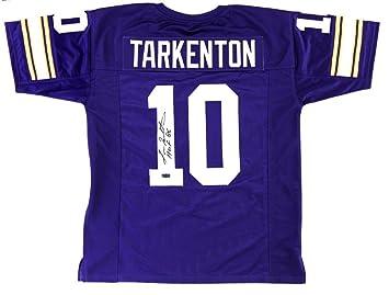 Minnesota Vikings Fran Tarkenton UNSIGNED CUSTOM Made White Jersey ncxLn