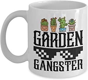 11 oz or 15 oz Coffee Mug - Garden Gangster - Garden, Gardening, Funny, Novelty, Gift