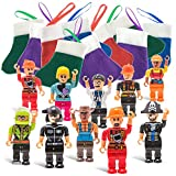 Christmas Stockings with Mini Toy Figure Toys - X-mas Tree Stocking Stuffers - Gifts for Kids - Boys & Girls Figurines Figuers