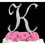 Letter K - Swarovski Crystal Monogram Wedding Cake Topper Letter