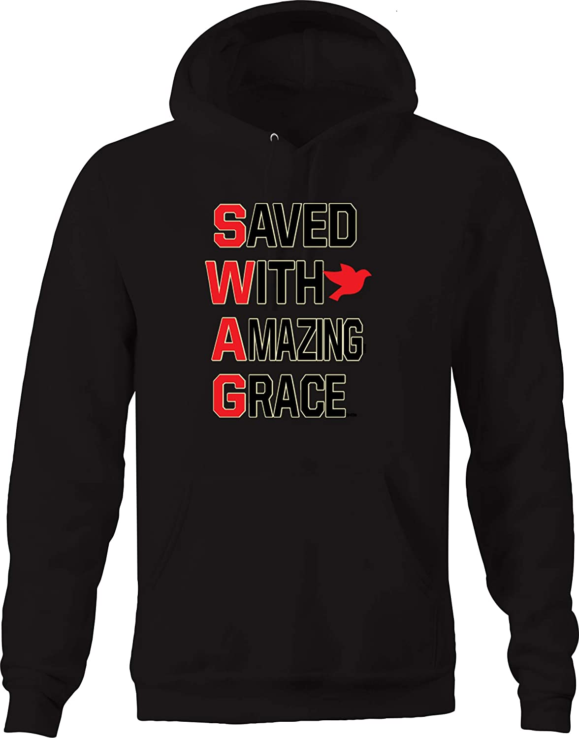 Swag Saved with Amazing Grace Culture Dove Hope Faith Cool Hot Hoodies for Men