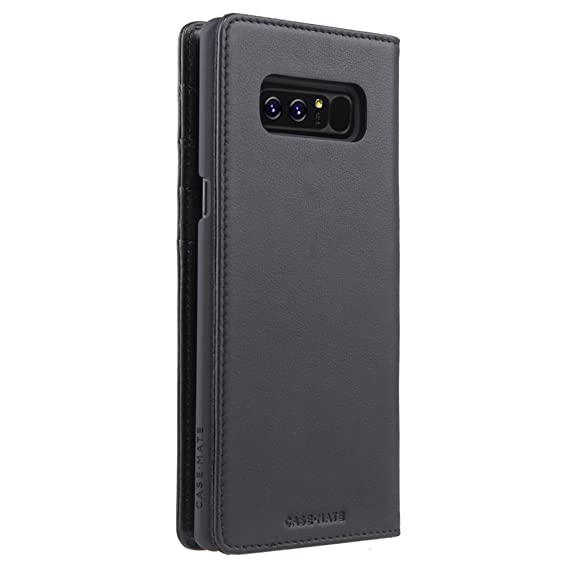 newest 6f0f7 b5518 Case-Mate Note 8 Case - WALLET FOLIO - Black - Real Leather - Slim Design  for Samsung Galaxy Note 8 - Black