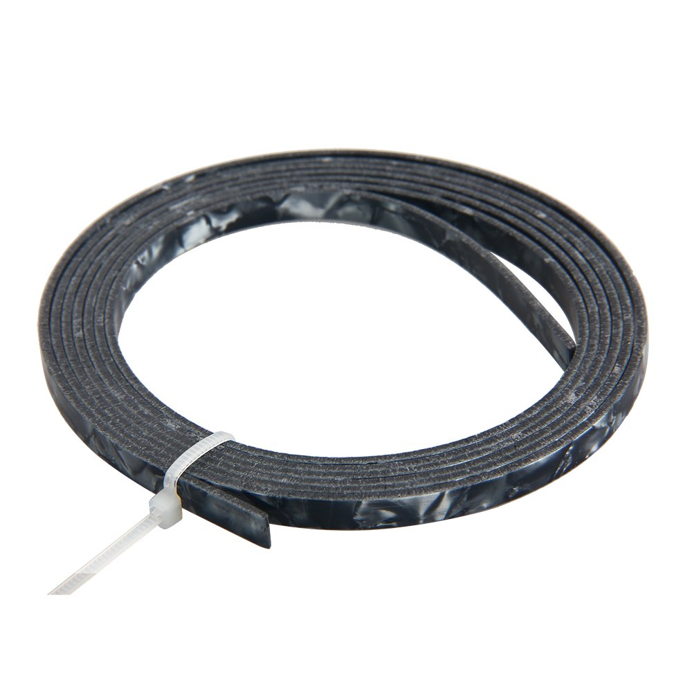 Kmise Z4866 5' Celluloid Acoustic Guitar Binding Purfling Strip 5 x 1.5mm, Black Pearl