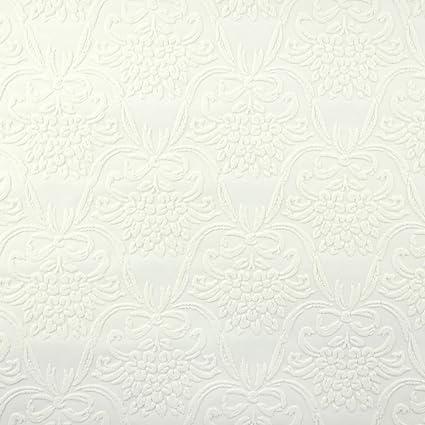 Attrayant Wallpaper White Embossed Textured Vinyl Kensington Wallpaper   Wallpaper    Amazon.com