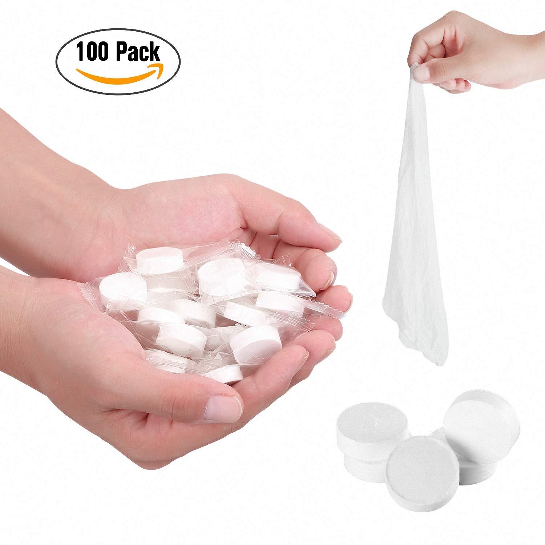 Komprimierte Handtücher, gepresste Erfrischungstücher Tabletten-Form, Abschminktücher Reise trocken, Einweg-Hand-Tücher, Outdoor Handtuch (A-50) Komprimierte Handtücher Einweg-Hand-Tücher Amalod