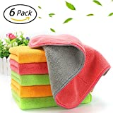 Ultra-Thick Microfiber Cleaning Cloths, Super Absorbent Dust Cloths Dish...