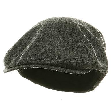 e6d639cb Big Size Elastic Wool Ivy Cap - Charcoal (for Big Head) at Amazon Men's  Clothing store: Newsboy Caps