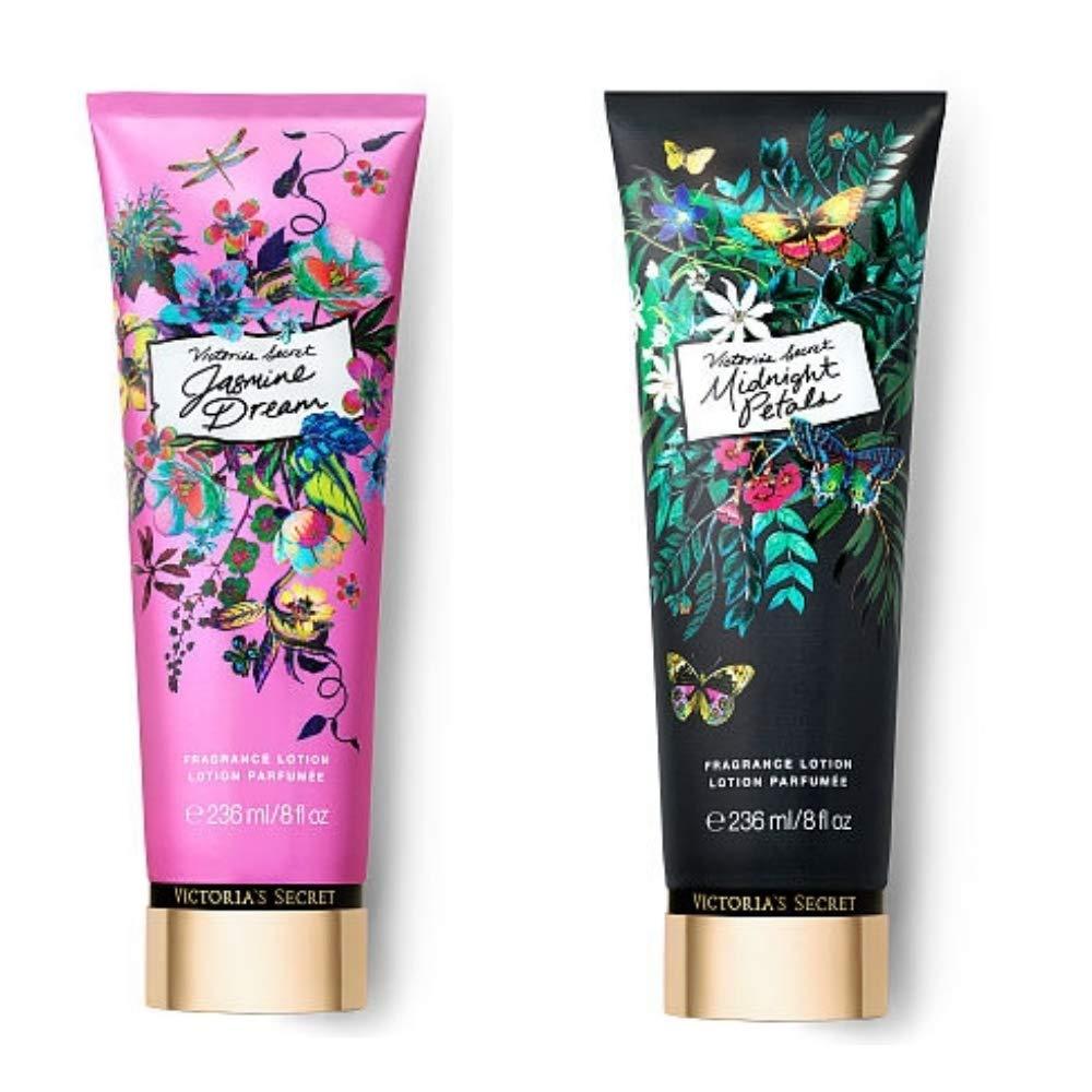 VS Jasmine Dream and Midnight Petals Fragrance Lotion Bundle (Each bottle 236ml 8 FL OZ)