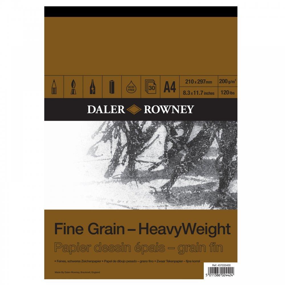 Daler - Rowney A4 Heavyweight Cartridge Pad- Fine Grain Daler-Rowney DR437033400