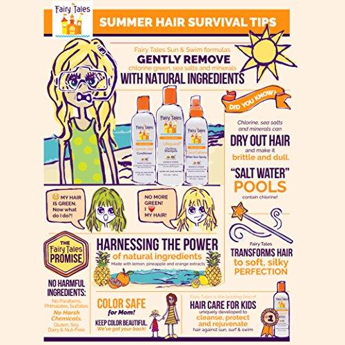 Fairy Tales Sun & Swim Lifeguard Clarifying Shampoo - Daily Kid Summer Shampoo - 12 oz by Fairy Tales (Image #2)