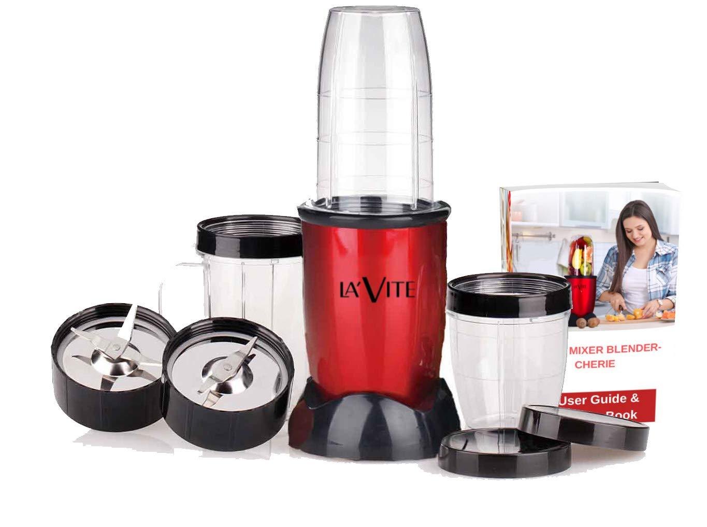 Compact Powerful Mixer Grinder Blender, 3 Jars and 2 Detachable Blades – La' Forte