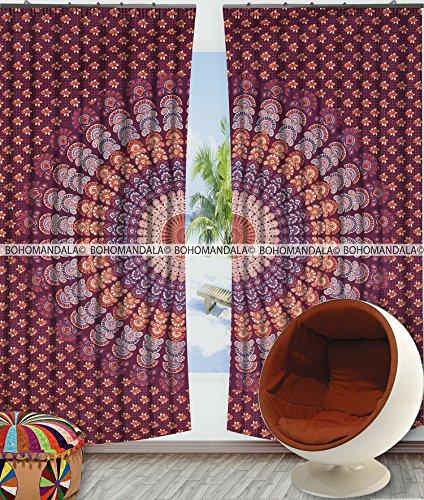 Peacock Mandala Tapestry Tapestries Bohemian Hippie Gypsy Boho Decor Hippy Window Curtain Room Divider Wall Hanging Pannel By Bohomandala (Pannels Window)