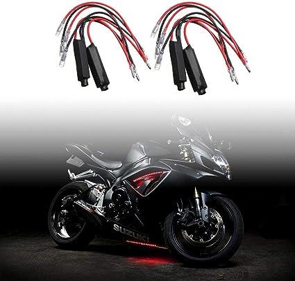 Wakauto 4 Piezas Resistencia de Motocicleta Led Intermitente 10W10 Decodificador de Adaptador de Indicador de Se/ñal de Giro para Motocicleta Moto sin Parpadeo
