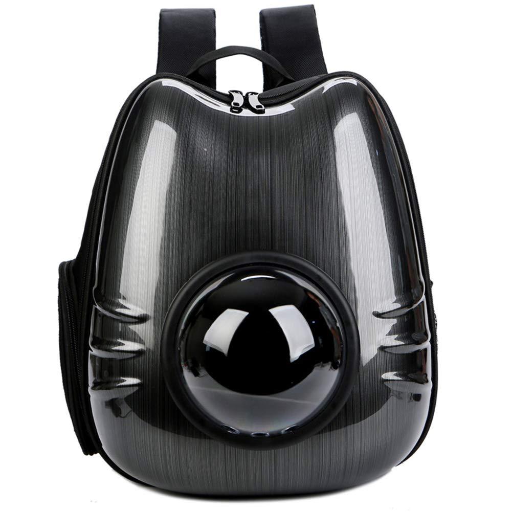 Black W32H40T26cm black W32H40T26cm Portable Travel Pet Carrier Backpack,Pet Cat Dog Puppy Carrier Travel Bag Space Capsule Backpack Breathable,Space Capsule Bubble Design,Waterproof Handbag Backpack