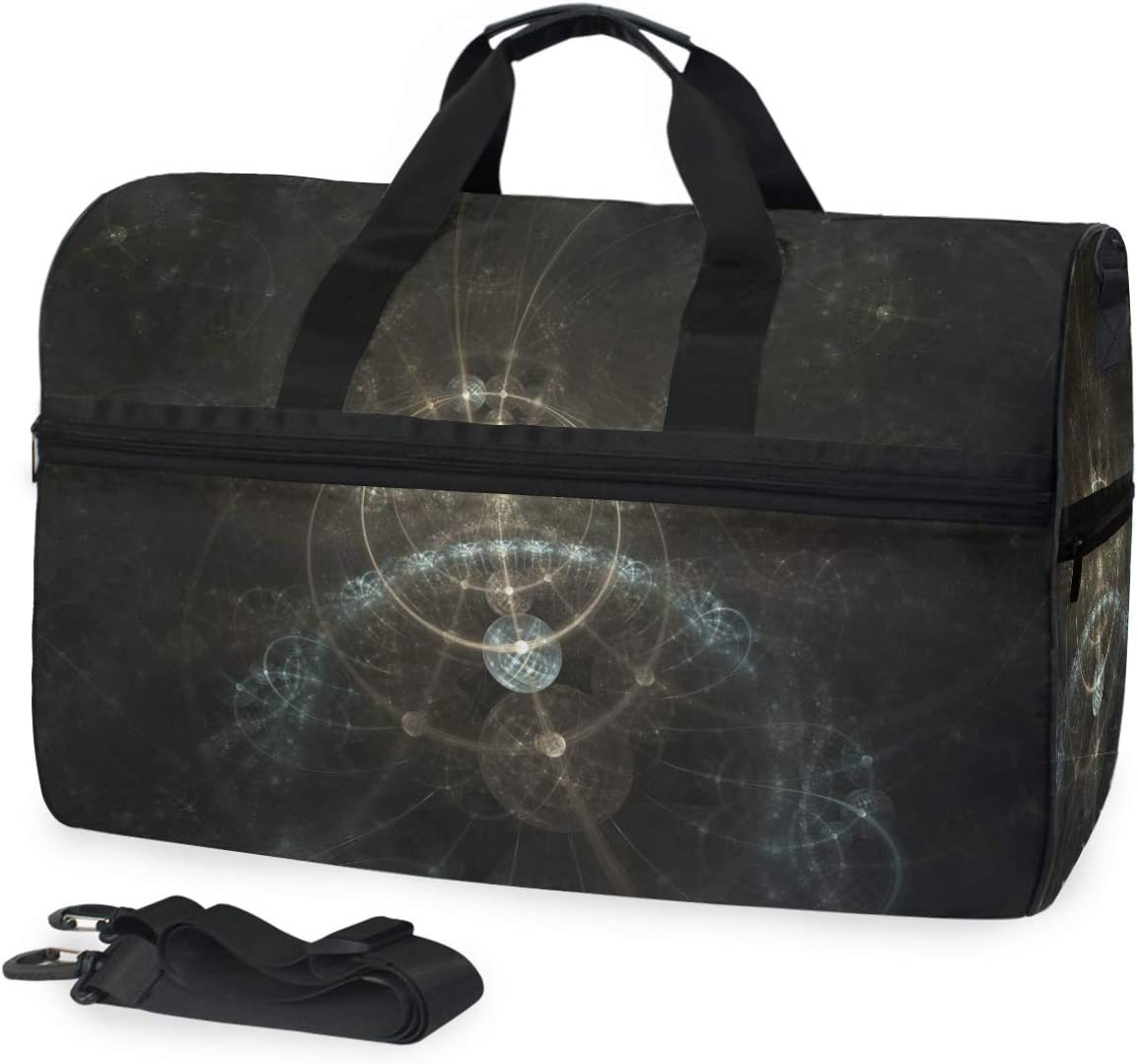 FANTAZIO Abstract Fractal Physical Mathematical Space Sports Duffle Bag Gym Bag Travel Duffel with Adjustable Strap