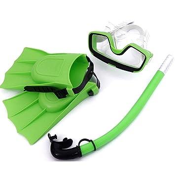 FAVOLOOK Juego de gafas de buceo para niños, verde