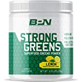 Bare Performance Nutrition | Strong Greens Superfood Powder | Non-Gmo, Gluten Free and No Artificial Sweeteners (30 Servings, Lemon)