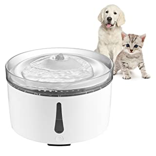 Petacc Pet Fountain Automatic Cat Dog Water Dispenser Ultra-quiet Drinking Fountain for Cats, Dogs, Birds and Small Animals, 3L Water Capacity, Water Shortage Alarm and Clear Window Design