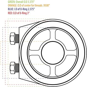 Amazon Com Glowshift Oil Filter Sandwich Adapters