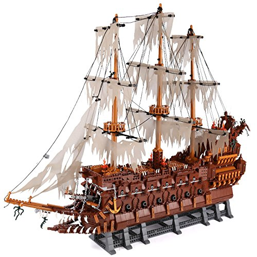 LEGO Compatible Flying Dutchman Ship Pirates of the Caribbean Building Brick Model Replica Set (3652 pcs)