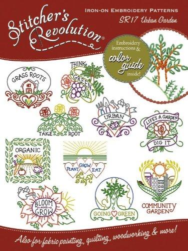 Aunt Martha's Stitcher's Revolution Iron-On Transfers-Urban Garden